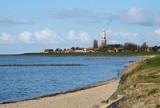 Het stadje Hindeloopen aan het IJsselmeer.