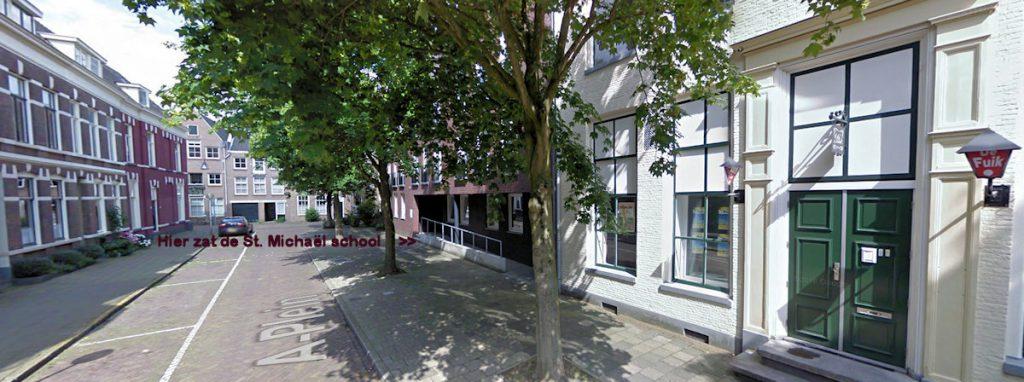 Op deze plaats (A-plein) bevond zich vroeger de St. Michaëlschool.
