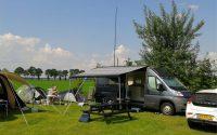 Op de camping in Ommen.