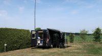 Op de camping in Ommen, bij 35 graden Celcius...