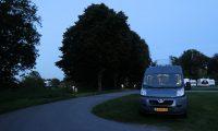 Op de bekende camperplaats in Goch, achter Nijmegen.