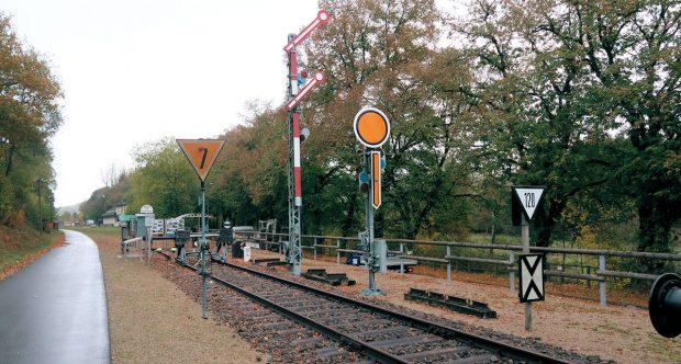 """Een deel van het spoorweg """"openlucht museum""""."""