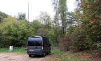 De camperplaats in Bad Münstereifel.
