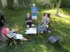 Op de camping in Die (Drome, Frankrijk) met Lidy en Peter Meyers.