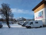 Op de camperplaats Geiger in Oberstdorf.