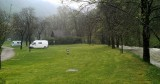 Op de camping in Baume-les-Messieurs.