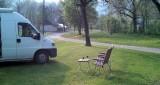 Het is nog steeds rustig op de camping in Baume...