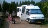 Lekker weer op de camperplaats van Jochem en Maaren.