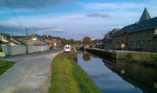 Overnachten in Le Chesne aan het Canal des Ardennes.