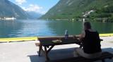 Lunchpauze aan het fjord