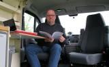 """Aan het werk in mijn """"rijdende kantoor""""..."""