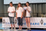 Claudia DC2CL, Jessica DN5AJ en Agnes DC7WF tijdens de Hamradio 2014 in Friedrichshafen.