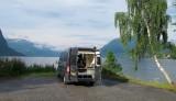 Camperplaatsje aan het fjord.