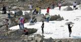 Sneeuwballen gooiende Chinese toeristen...