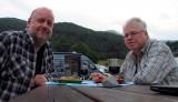 Eten met uitzicht in Hornindal.