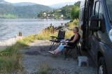 Ontbijt aan het fjord.