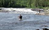 Vliegvissers in de rivier...