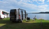 Op de camping in Vilhelmina.