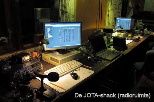 De shack (radioruimte).
