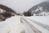 De weg naar het dorpje Unterjoch, vanwaar we gekomen zijn.