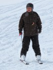 Femma in de sneeuw.