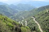 De afdaling vanaf de Col de Rousset.