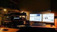 De shack (radioruimte) zoals die er momenteel uitziet.
