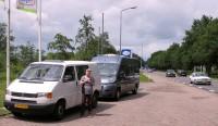 Eerst moet de Volkswagen naar Enschede.