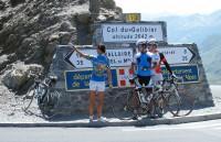 Op de Galibier, na een korte, zware klim.
