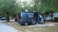 Op de camping in Enrevaux.