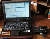 N1MM-contest software, de KX1 staat op 14.047,5 KHz.