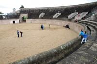 De nagebouwde Romeinse arena.