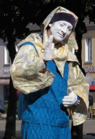 Ook dit vreemde personage kwamen we tegen onderweg in Xanten...