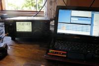 De tweede transceiver, de Icom 746-Pro.