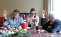 Tweede kerstdag in Enschede, Richard, Zjaneta en Nel.
