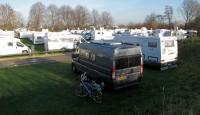Op de camperplaats in Goch, woensdagochtend.