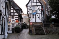 De altstadt (het historisch centrum) van het stadje Kettwig.