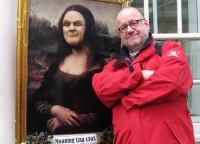 """Met """"Moaring Lisa"""" op de foto..."""