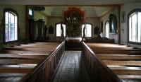 Het eeuwenoude houten kerkje van Särna.