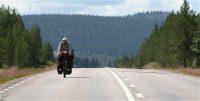 Eenzame (Duitse) fietser op weg naar de Noordkaap...
