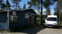 De (inmiddels opgeheven) camperplaats in Sandsele.