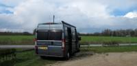 De auto geparkeerd op minder dan 500m van Landgoed Blauwrijk.