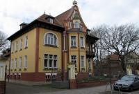 De Jugendstil Villa Freydanck, de stadsbibliotheek van Salzwedel.