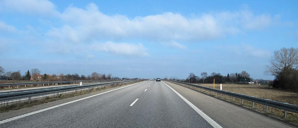 Rustig en mooi weer tijdens onze rit door Denemarken.