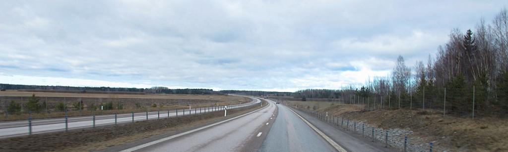 De E4 naar het noorden.