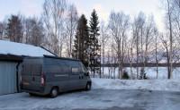 Een plek om te overnachten op 100m van de flat van Anna en Mikael.