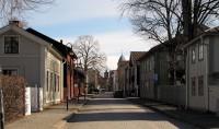 Zomaar een straatje in het centrum van Kristinehamn.