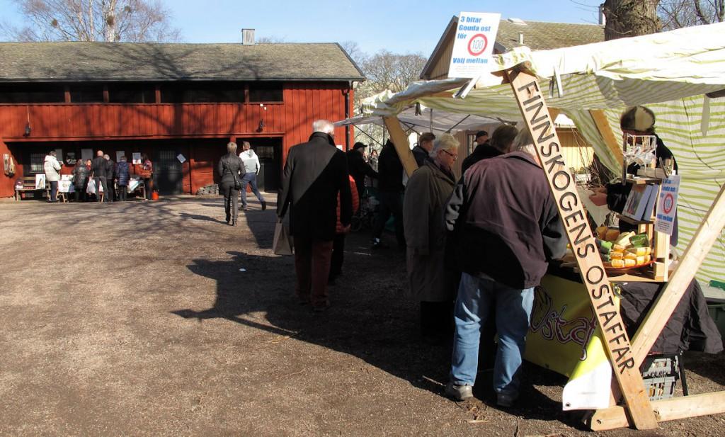"De ""zaterdagmarkt"" in Kristinehamn."