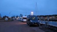 Ons campertje op de kade in Kristinehamn.