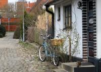 Mooie oude huisjes in Skillinge.